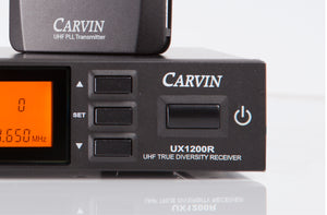 carvin wireless headset microphone system ux1200r with performer1 mic