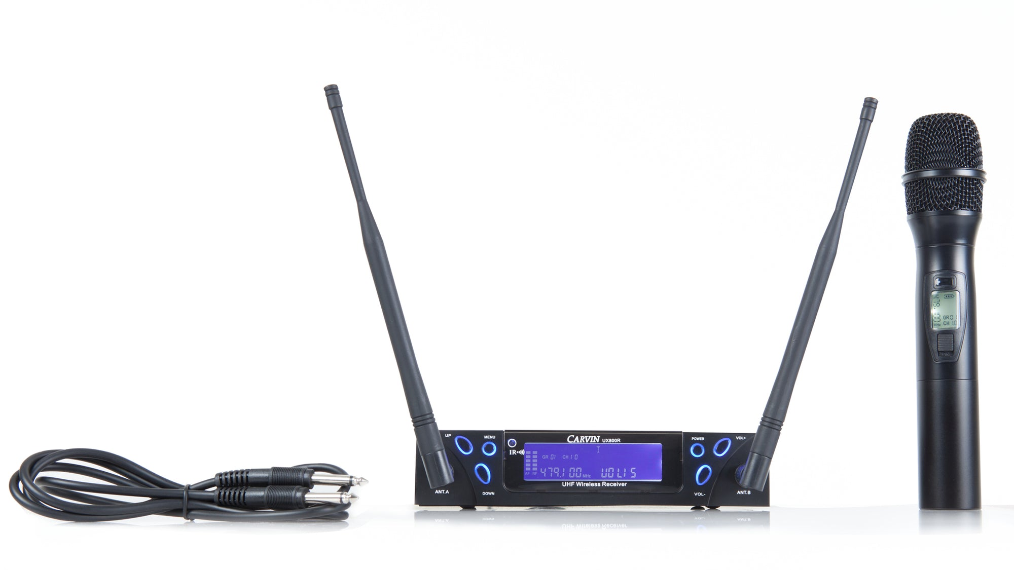 carvin ux800mc rechargeable wireless microphone system