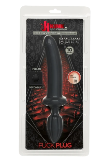 Doc Johnson Kink Dual Density SecondSkyn™ Fuck Plug Black