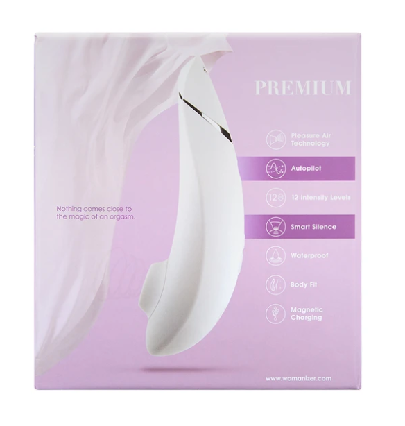 Womanizer Premium White/Chrome Clitoral Stimulator