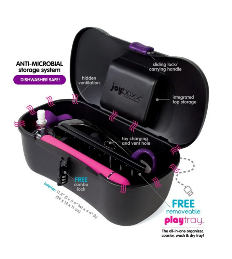Joyboxx Sex Toy Hygienic Storage System Purple