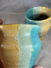 "Load image into Gallery viewer, Pair of Wine Cups in ""Life's a Beach"" 