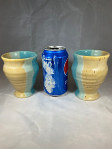 "Pair of Wine Cups in ""Life's a Beach"" 