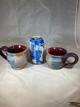 "Load image into Gallery viewer, Pair of Itty Bitty Mugs in ""Very Berry Shimmer"" 