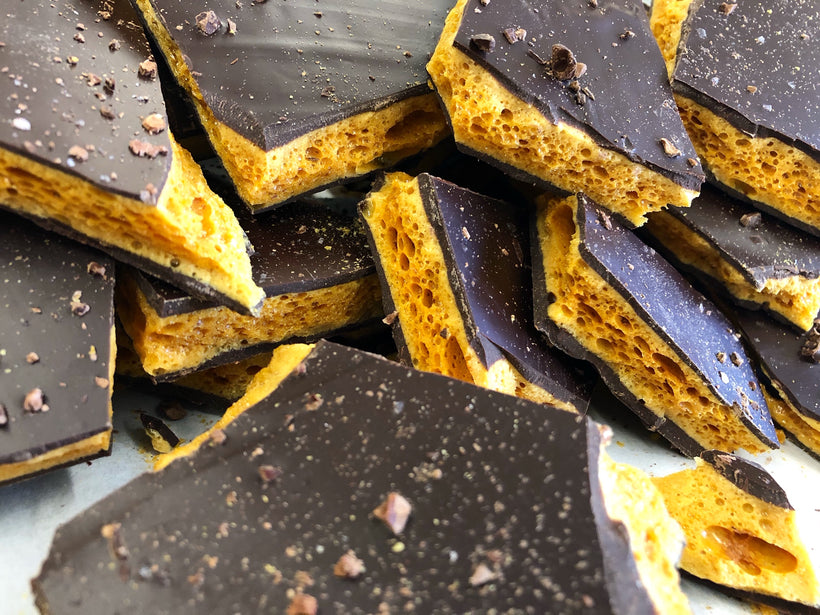 Honeycomb Toffee Bark