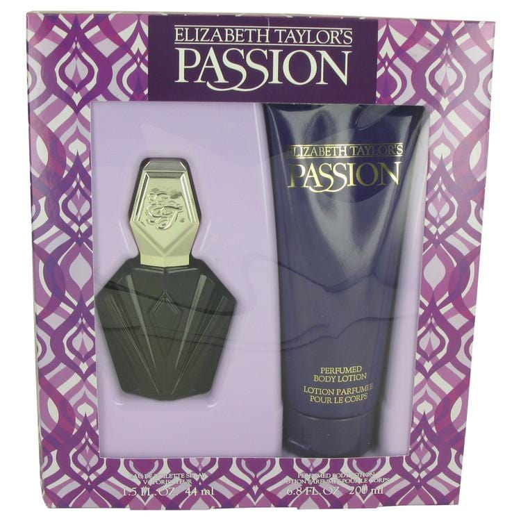 PASSION by Elizabeth Taylor Gift Set -- 1.5 oz Eau De Toilette Spray + 6.8 oz  Body Lotion for Women