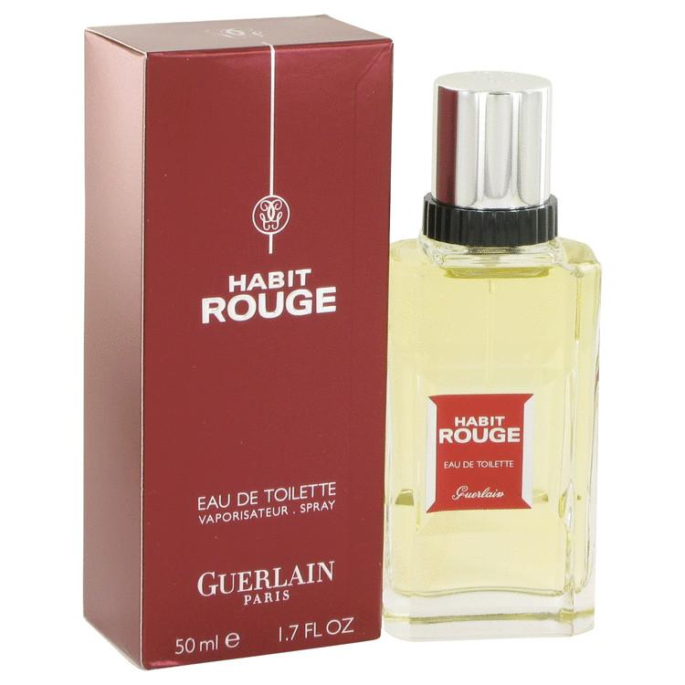 HABIT ROUGE by Guerlain Eau De Toilette Spray 1.7 oz for Men - Oliavery