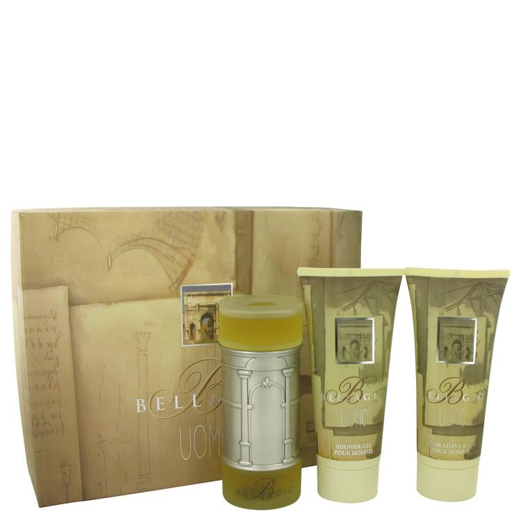 BELLAGIO by Bellagio Gift Set -- 3.4 oz Eau De Toilette Spray + 6.8 oz Shower Gel + 6.8 oz After Shave Balm for Men - Oliavery