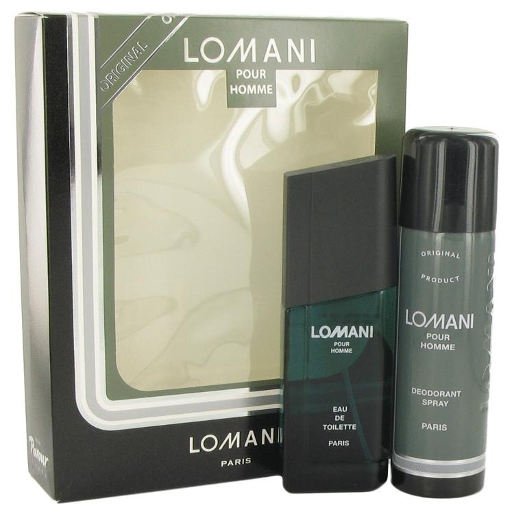 LOMANI by Lomani Gift Set -- 3.4 oz Eau De Toilette Spray + 6.7 oz Deodorant Spray for Men - Oliavery