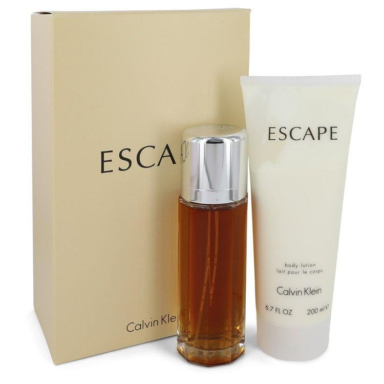 ESCAPE by Calvin Klein Gift Set -- 3.4 oz Eau De Parfum Spray + 6.7 oz Body Lotion for Women - Oliavery
