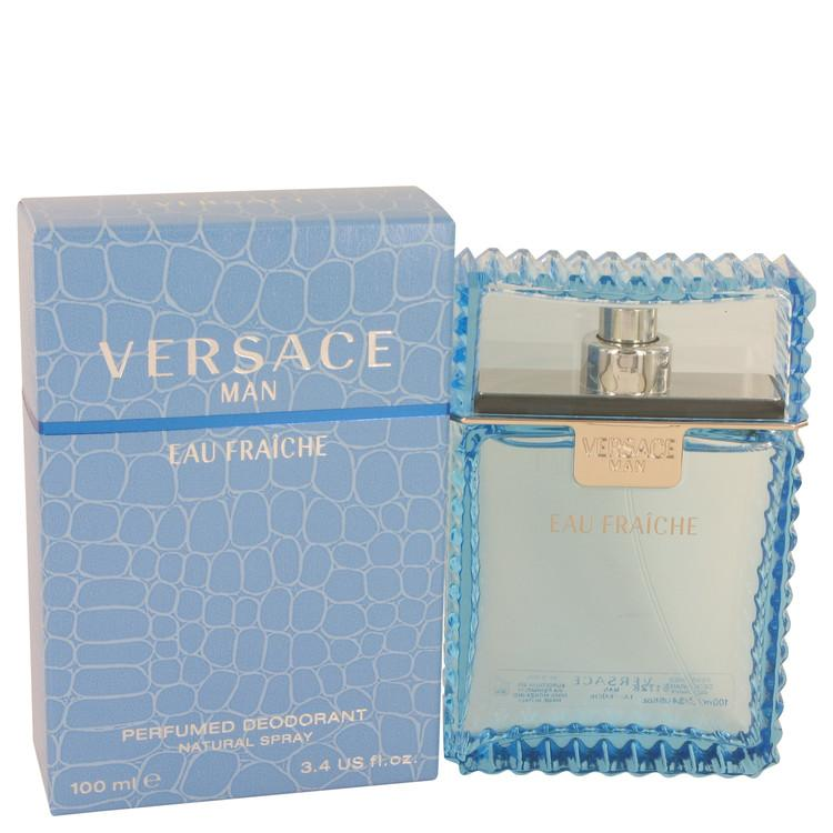 Versace Man by Versace Eau Fraiche Deodorant Spray 3.4 oz for Men - Oliavery