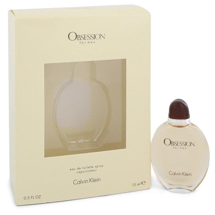 OBSESSION by Calvin Klein Eau De Toilette Spray .5 oz for Men - Oliavery
