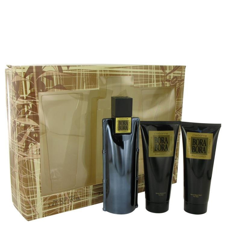 Bora Bora by Liz Claiborne Gift Set -- 3.4 oz Cologne Spray + 3.4 oz Body Moisturizer + 3.4 oz  Hair & Body Wash for Men - Oliavery