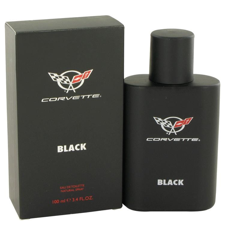Corvette Black by Vapro International Eau De Toilette Spray 3.4 oz for Men - Oliavery