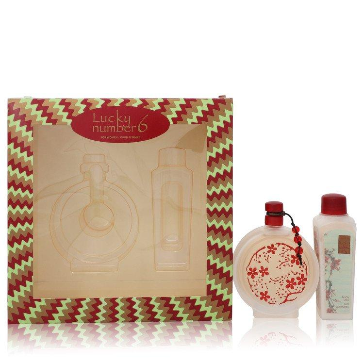 Lucky Number 6 by Liz Claiborne Gift Set -- 3.4 oz Eau De Parfum Spray + 3.4 oz Body Lotion for Women - Oliavery