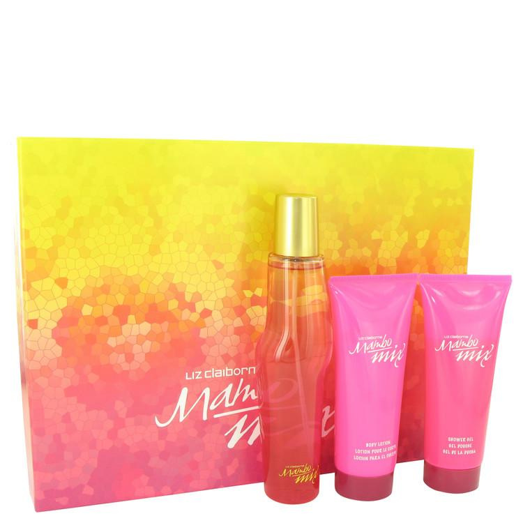 Mambo Mix by Liz Claiborne Gift Set -- 3.4 oz Eau De Parfum Spray + 3.4 oz Body Lotion + 3.4 oz Shower Gel for Women - Oliavery