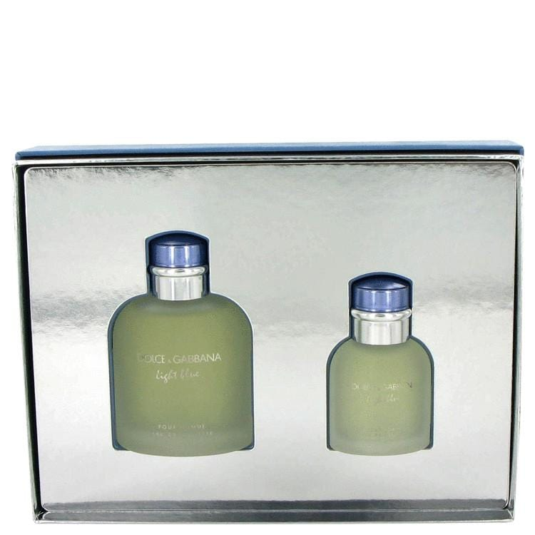 Light Blue by Dolce & Gabbana Gift Set -- 4.2 oz Eau De Toilette Spray + 1.3 oz Eau De Toilette Spray for Men - Oliavery
