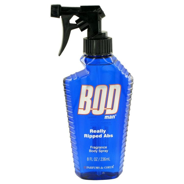 Bod Man Really Ripped Abs by Parfums De Coeur Fragrance Body Spray 8 oz for Men - Oliavery