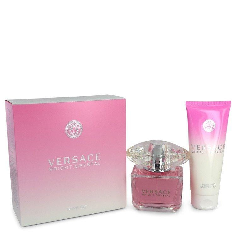 Bright Crystal by Versace Gift Set -- 3 oz Eau De Toilette Spray + 3.4 oz Body Lotion for Women - Oliavery