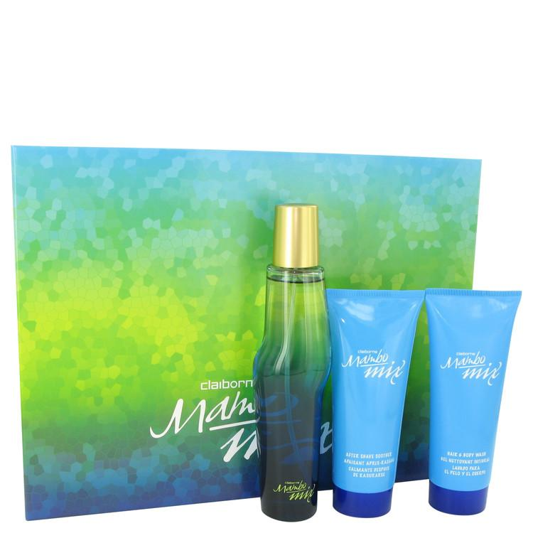 Mambo Mix by Liz Claiborne Gift Set -- 3.4 oz Eau De Cologne Spray + 3.4 oz After Shave Soother + 3.4 oz Shower Gel for Men - Oliavery
