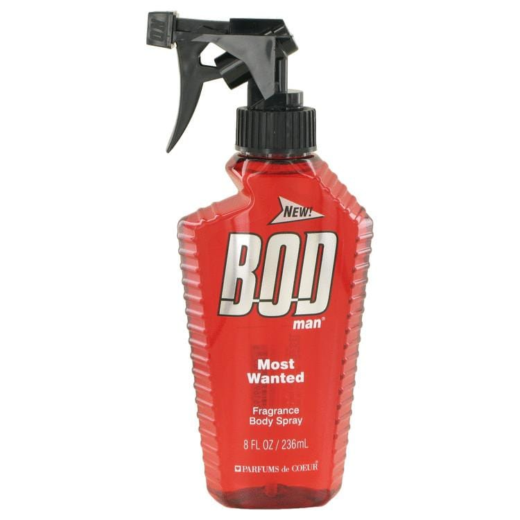 Bod Man Most Wanted by Parfums De Coeur Fragrance Body Spray 8 oz for Men - Oliavery