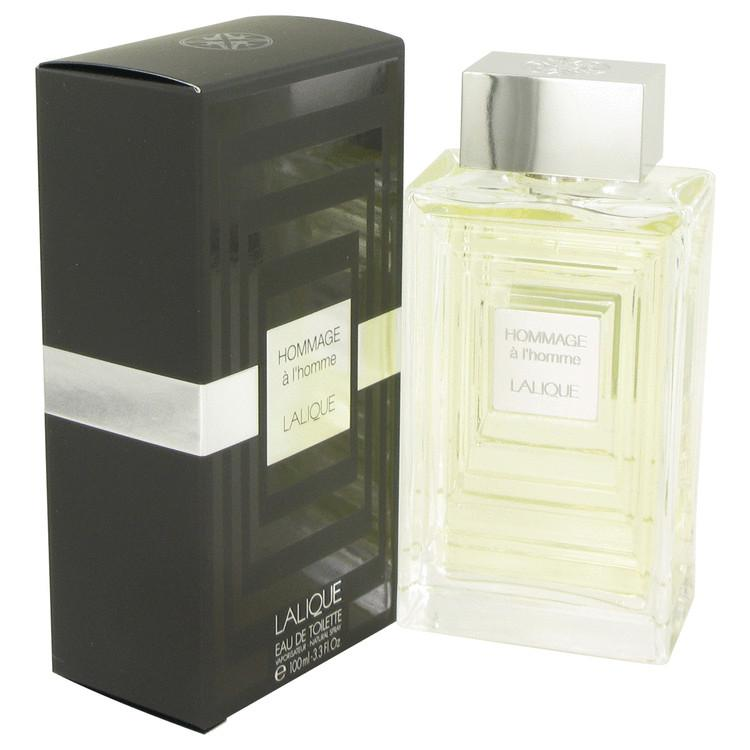 Lalique Hommage a L'Homme by Lalique Eau De Toilette Spray 3.3 oz for Men