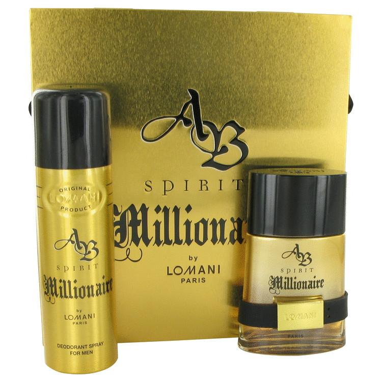Spirit Millionaire by Lomani Gift Set -- 3.3 oz Eau De Toilette Spray + 6.6 oz Deodorant Spray for Men - Oliavery