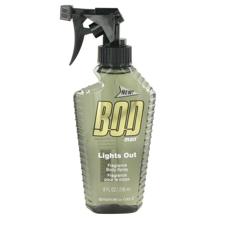 Bod Man Lights Out by Parfums De Coeur Body Spray 8 oz for Men - Oliavery