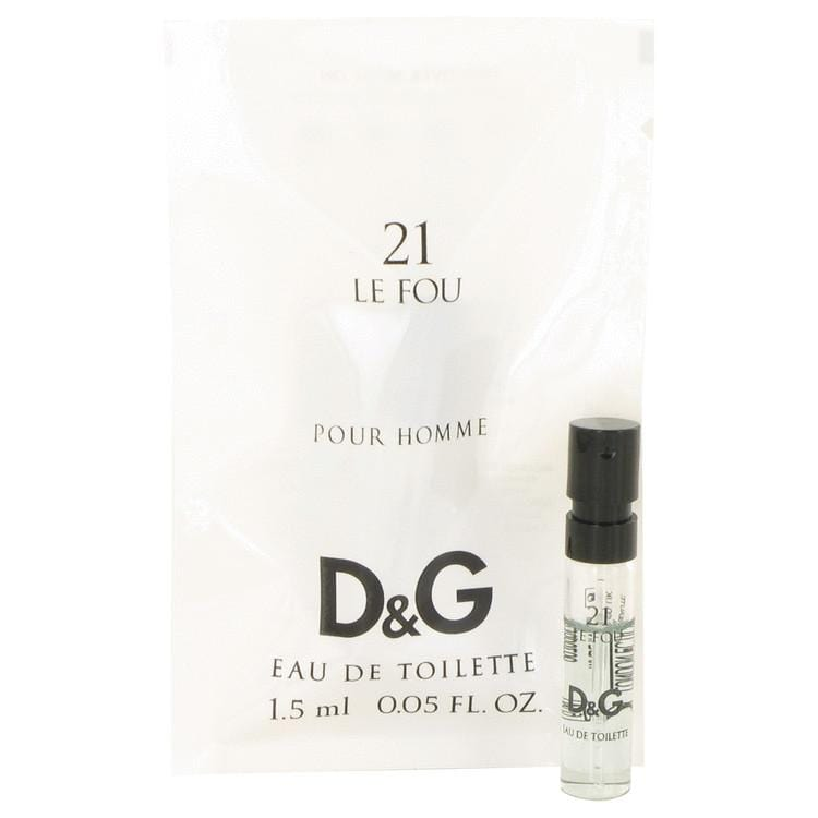 Le Fou 21 by Dolce & Gabbana Vial (Sample) .05 oz for Men - Oliavery
