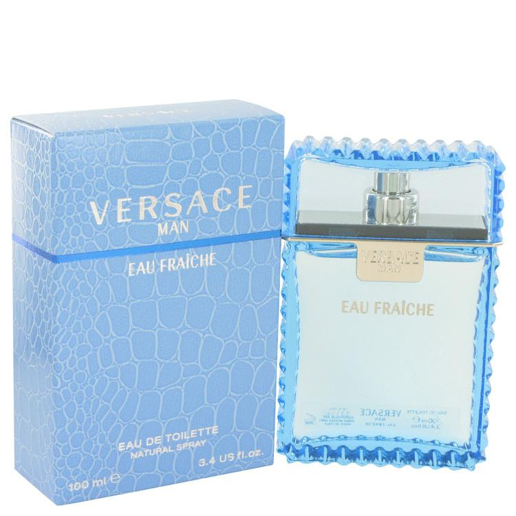 Versace Man by Versace Eau Fraiche Eau De Toilette Spray (Blue unboxed) 6.7 oz for Men