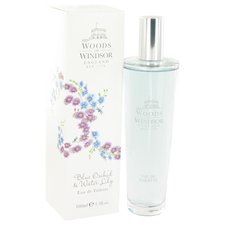 Blue Orchid & Water Lily by Woods of Windsor Eau De Toilette Spray 3.3 oz for Women - Oliavery