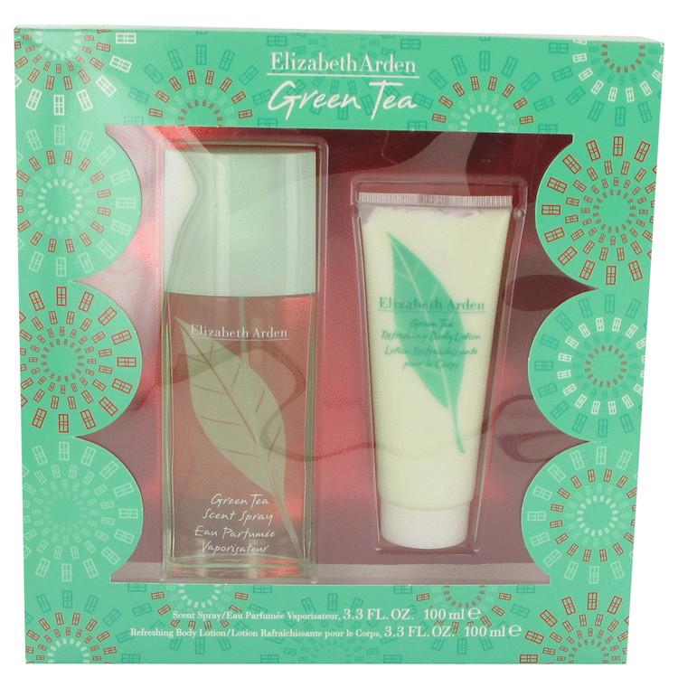 GREEN TEA by Elizabeth Arden Gift Set -- 3.3 oz Scent Spray  + 3.3 Body Lotion for Women - Oliavery