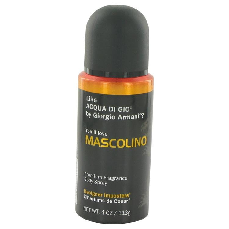 Designer Imposters Mascolino by Parfums De Coeur Body Spray 4 oz for Men - Oliavery