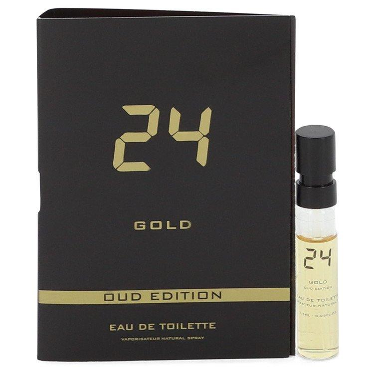 24 Gold Oud Edition by ScentStory Vial (sample) .05 oz for Men - Oliavery