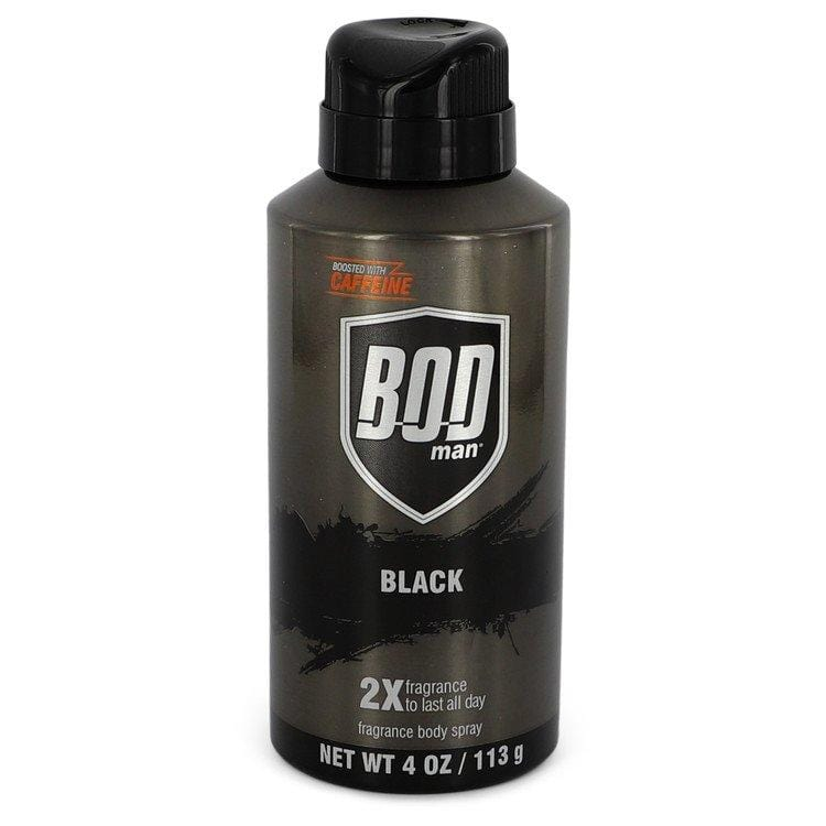 Bod Man Black by Parfums De Coeur Body Spray 4 oz for Men - Oliavery