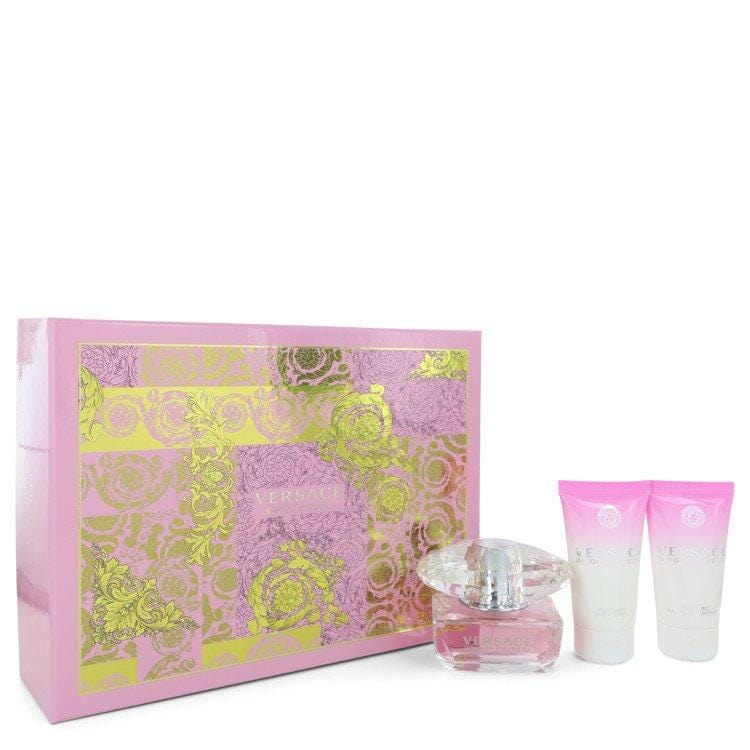 Bright Crystal by Versace Gift Set -- 1.7 oz Eau De Toilette Spray + 1.7 oz Body Lotion + 1.7 oz Shower Gel for Women - Oliavery
