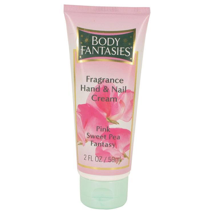 Body Fantasies Signature Pink Sweet Pea Fantasy by Parfums De Coeur Hand & Nail Cream 2 oz for Women - Oliavery