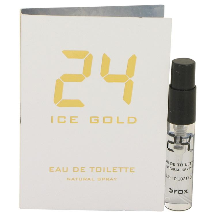 24 Ice Gold by ScentStory Vial (Sample) .10 oz for Men - Oliavery