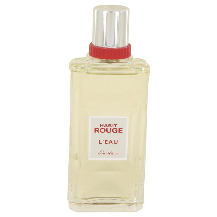 Habit Rouge L'eau by Guerlain Eau De Toilette Spray (unboxed) 3.3 oz for Men - Oliavery