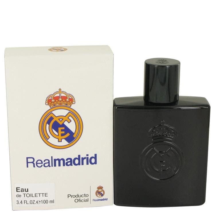 Real Madrid Black by Air Val International Eau De Toilette Spray 3.4 oz for Men - Oliavery