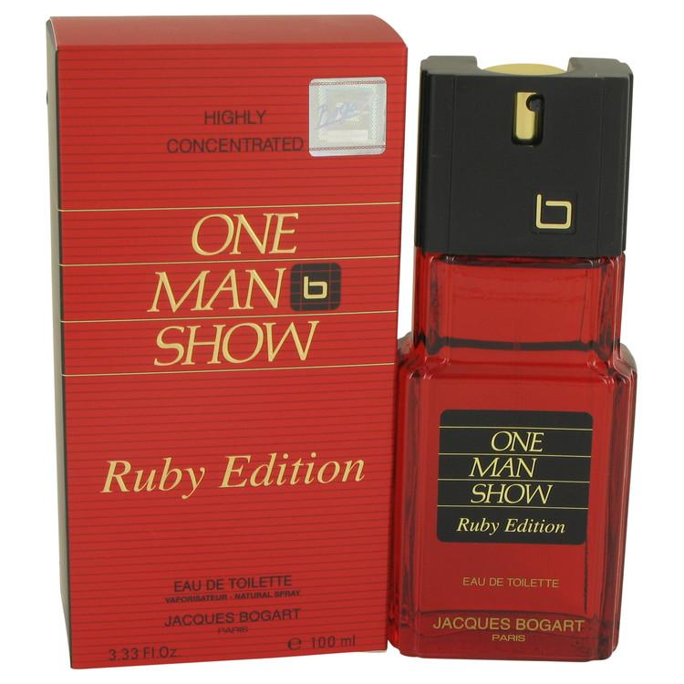 One Man Show Ruby by Jacques Bogart Eau De Toilette Spray 3.3 oz for Men - Oliavery