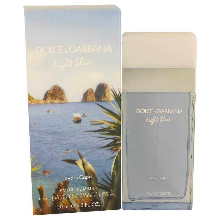 Light Blue Love in Capri by Dolce & Gabbana Eau De Toilette Spray 3.4 oz for Women - Oliavery