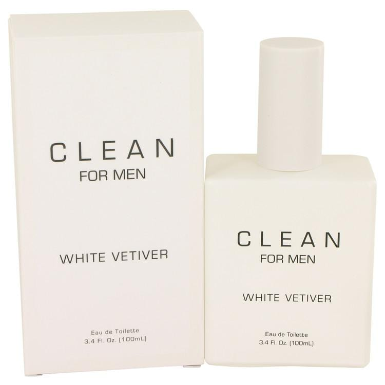 Clean White Vetiver by Clean Eau De Toilette Spray 3.4 oz for Men - Oliavery