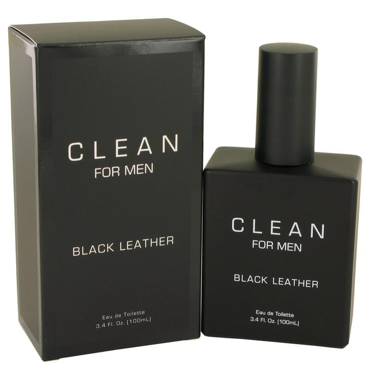 Clean Black Leather by Clean Eau De Toilette Spray 3.4 oz for Men - Oliavery