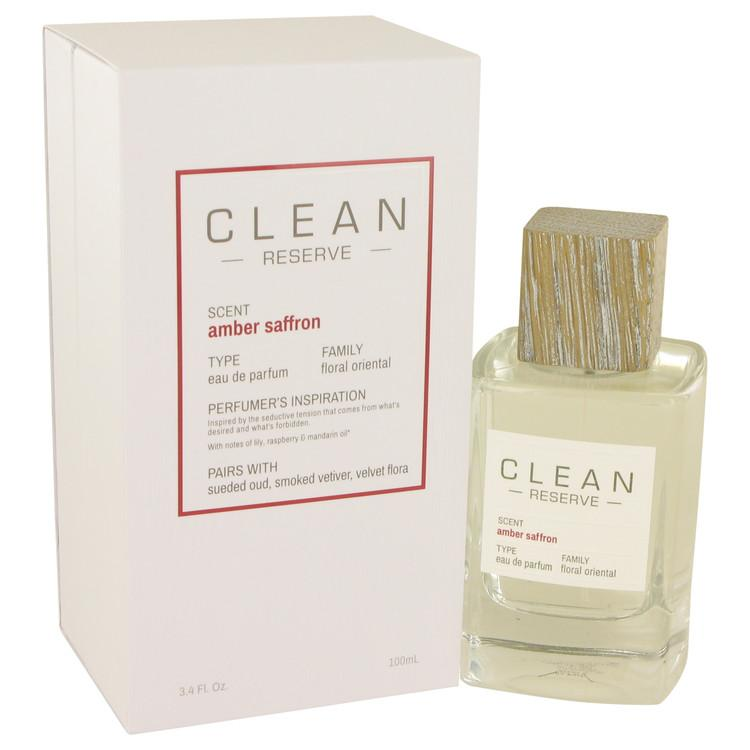 Clean Amber Saffron by Clean Eau De Parfum Spray 3.4 oz for Women - Oliavery