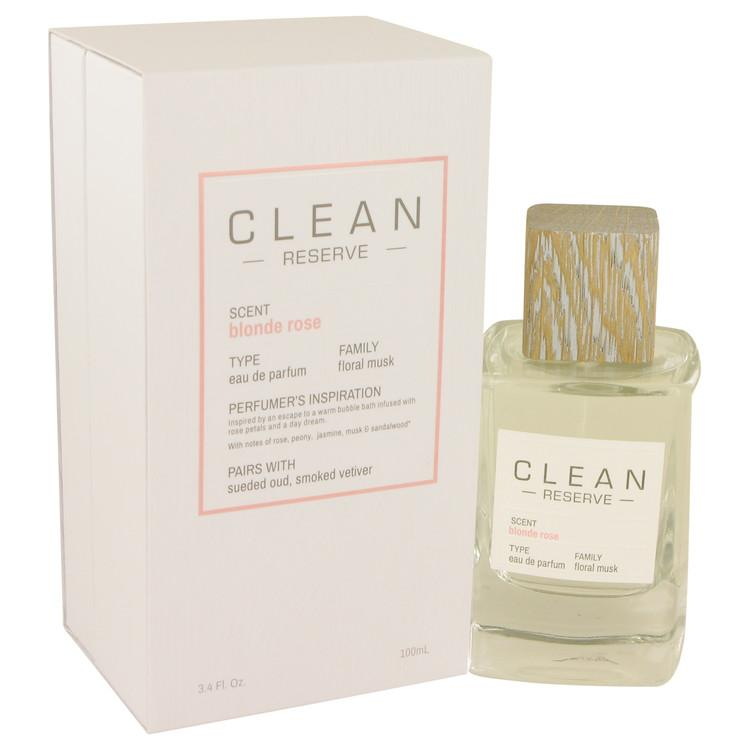 Clean Blonde Rose by Clean Eau De Parfum Spray 3.4 oz for Women - Oliavery
