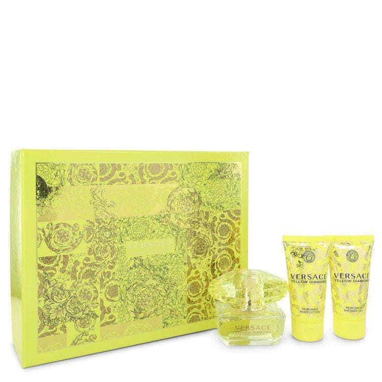 Versace Yellow Diamond by Versace Gift Set -- 1.7 oz Eau De Toilette Spray + 1.7 oz Body Lotion + 1.7 oz Shower Gel for Women