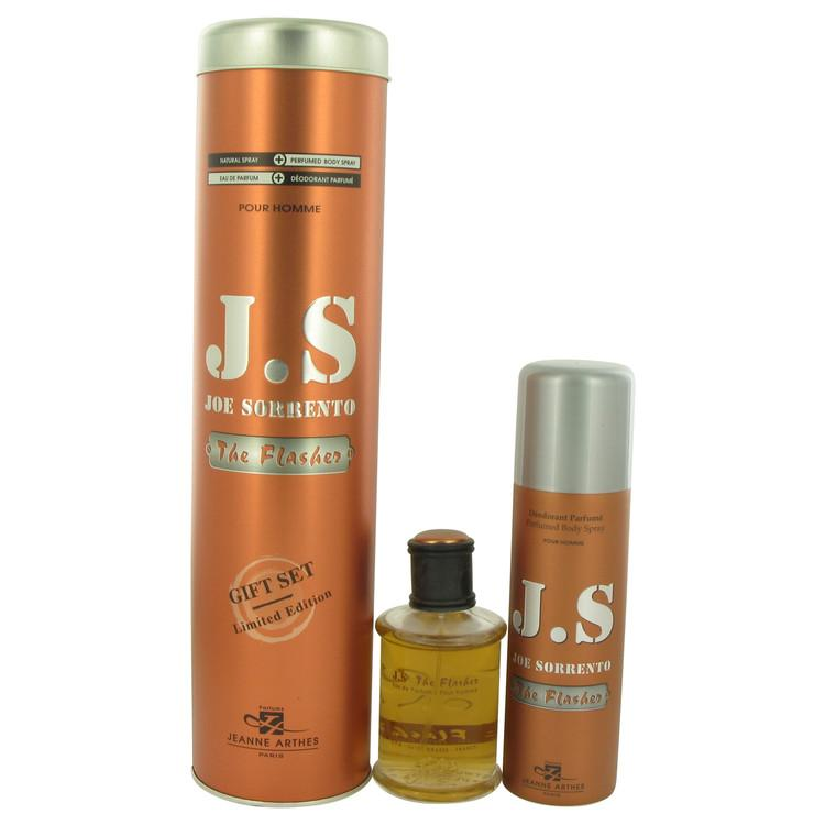 Joe Sorrento The Flasher by Joe Sorrento Gift Set -- 3.3 oz Eau De Parfum Spray + 6.7 oz Body Spray for Men - Oliavery