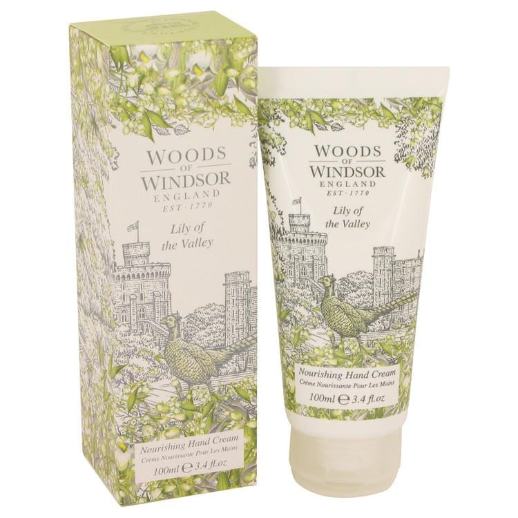 Lily of the Valley (Woods of Windsor) by Woods of Windsor Nourishing Hand Cream 3.4 oz for Women - Oliavery