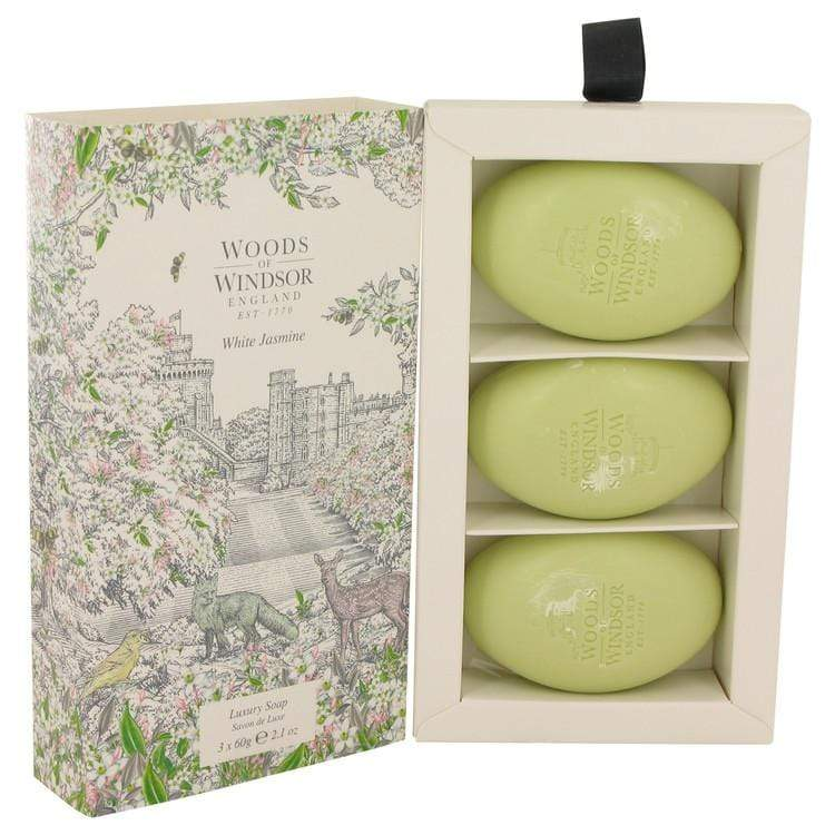 White Jasmine by Woods of Windsor Three 2.1 oz Luxury Soaps 2.1 oz for Women - Oliavery
